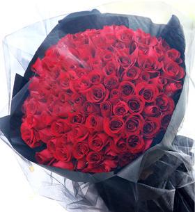 99朵玫瑰定制花束,给她长长99的承诺,滴滴配送,确保14号当天收到
