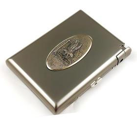 【苏联同款】带打火机金属雕花烟盒