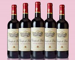 法国香德贝红葡萄酒/6支