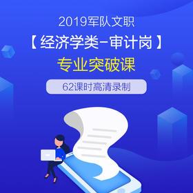 2019军队文职【经济学类—审计岗】专业突破班
