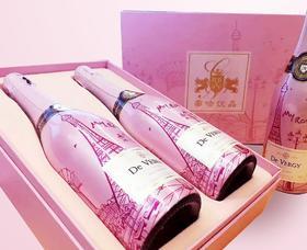 法国帝吻起泡酒双支礼盒装