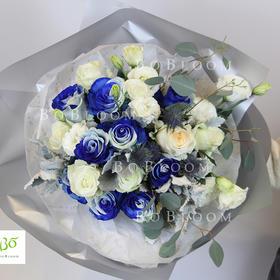 纯净的爱-蓝色进口大号混合花束