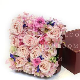 公主的花园--创意正方形高端鲜花花盒