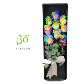 彩虹之恋-全进口玫瑰礼盒