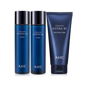 韩国 AHC  高效保湿B5透明质酸爽肤水+乳液+洗面奶 【新版】