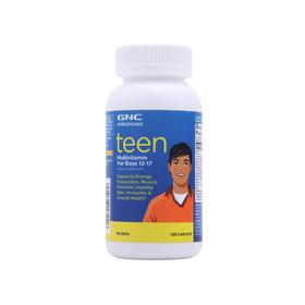 【男孩定制全面营养】美国 健安喜 GNC 青少年多种维生素矿物质复合片(男孩) 120粒