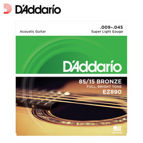 美产达达里奥民谣吉他弦EZ系列一套6根木吉他琴弦