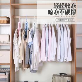 【买二送一】抖音爆款!日本多功能魔术衣架 折叠、多层、省空间、家用衣柜收纳神器!