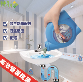 头发清理强力管道杀菌 下水道厨房疏通剂 马桶堵塞疏通剂600g