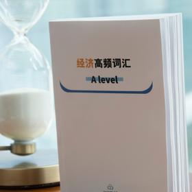 A level经济高频词汇书 不止于记单词