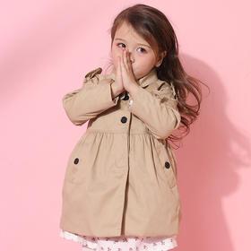 咕噜日记 女童经典百搭款风衣外套
