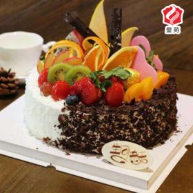 【鲜果好滋味】双色果园~水果蛋糕