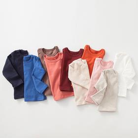 咕噜日记 男女童纯色圆领打底衫