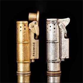 「复古创意打火机」PROMISE百诺战壕纯铜打火机防风煤油个性便携打火机