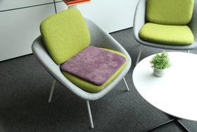 高档羊剪绒办公坐垫,可水洗—— 柔软、舒适、隔潮、耐用