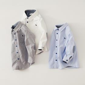 咕噜日记 男童小绅士款纯棉长袖衬衫