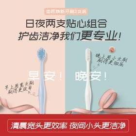 日本原装进口齿匠牙刷 70年匠心品牌 日夜焕新深层清洁组合 深入美白护理 家用组合套装