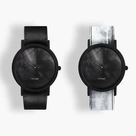 South Lane 暗黑系朋克个性腕表 | 黑色涂鸦单圈表带 2 款(瑞士)