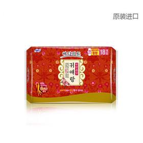 韩国贵爱娘LG SOFY韩方中草药红参系列卫生护垫 25cm*18片
