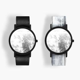 South Lane 暗黑系朋克个性腕表 | 灰白涂鸦单圈表带 2 款(瑞士)