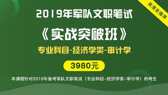 2019年军队文职笔试《实战突破班》(经济学类-审计学)