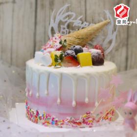 【诠释别样的清新】粉色小清新~鲜果夹心天然淡奶蛋糕