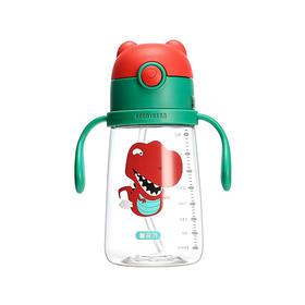 韩国杯具熊儿童卡通塑料学饮杯 红色恐龙 380ml