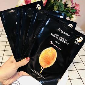 韩国 JM solution肌司研莹润蜂胶 蜂蜜面膜 补水保湿 10片/盒