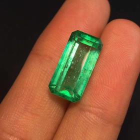 【D9022632】7.5克拉天然哥伦比亚祖母绿