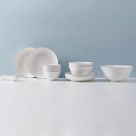 【北欧印象】纳米抗菌餐具 | 抑菌率高达97% | 高温煅烧有害物质0残留 | 超低吸水率瓷釉更易清洁