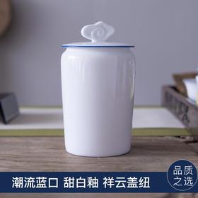 便携茶叶罐陶瓷小号储茶罐存茶密封罐白瓷随身茶罐家用旅行茶叶盒