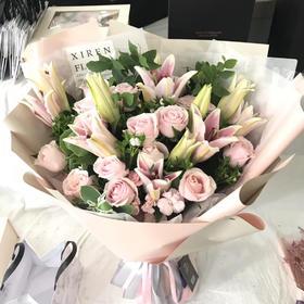 韩式百合玫瑰花束