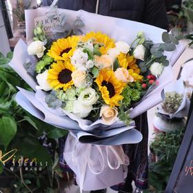 韩式向日葵花束
