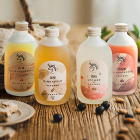 [半熟轻发酵果酒]红柚/白柚/菠萝/荔枝 四味可选