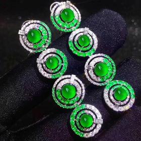 【D9010607】祖母绿设计款耳坠