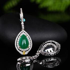 【DD8111719】18k金 钻石 纯天然祖母绿耳环