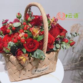 12#{云间鲜花}   爱意满满红玫瑰混搭款