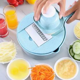 厨房多功能切菜神器(15件套装) | 切菜、沥水、装菜三合一、9大功能于一身,还能榨汁