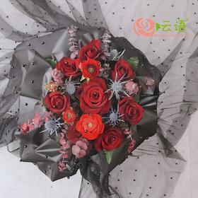 16#{云间鲜花}   相思的心红玫瑰款