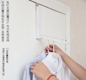 【免钉无痕挂 收纳神器】日系创意室内晾衣架轻巧不突兀