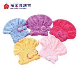 韩版蝴蝶结干发帽珊瑚绒超强吸水速加厚长发干发帽头巾浴帽