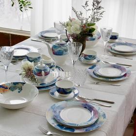 A级蓝色多瑙河 新骨瓷 48头 前菜主菜汤品主食咖啡甜品家宴套组 满包邮