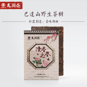 【新品上市】漫香之春 茶味绵甜 香溶于汤 巴达山普洱熟茶砖250g