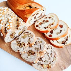 【半岛商城】新疆俄罗斯风味列巴 面包早餐 果仁黑麦两种口味 365克*2