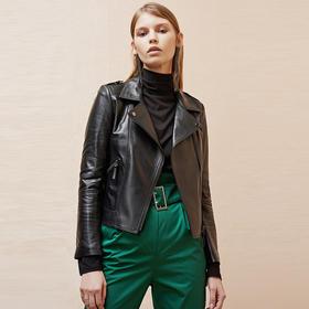町也·短款皮衣∣100%澳洲羊皮,时尚、明星超模都爱穿