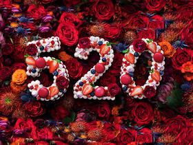 520情人节数字蛋糕