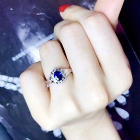 【D9031010】18k蓝宝石戒指