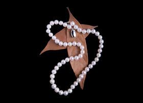 天然淡水珍珠项链手链耳钉套装