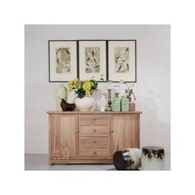 四屉二门柜 实木储物柜