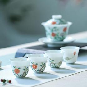宝瓷林 手绘古彩茶具